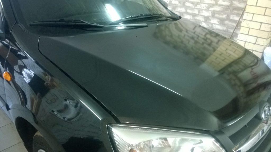 Автомобиль после нанесения бронированной пленки